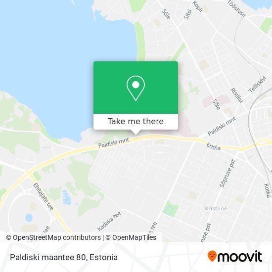 Paldiski maantee 80 map