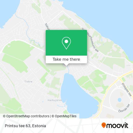 Printsu tee 63 map