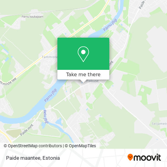 Paide maantee map