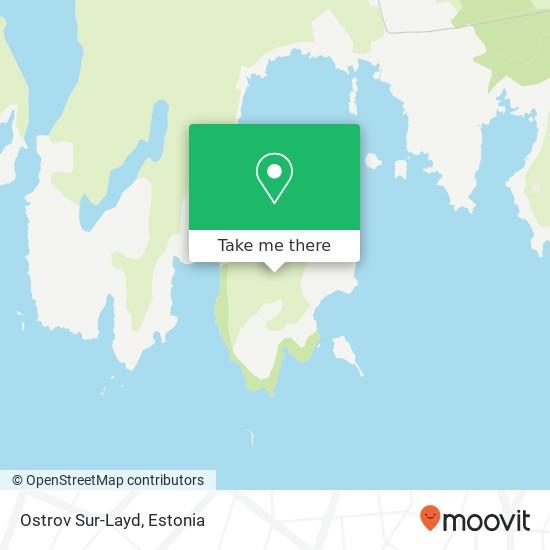 Ostrov Sur-Layd map