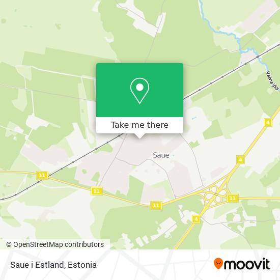 Saue i Estland map