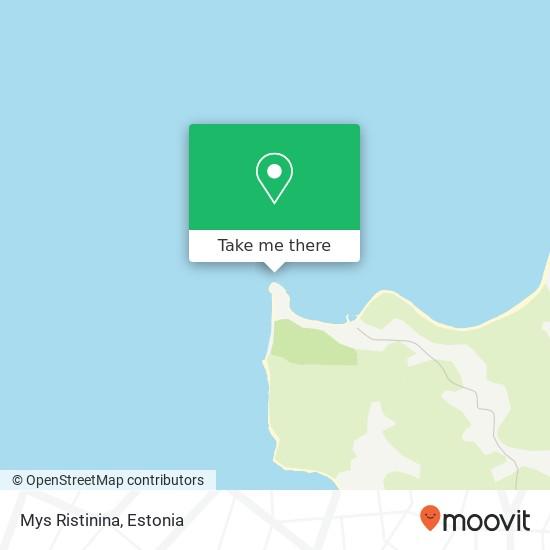 Mys Ristinina map