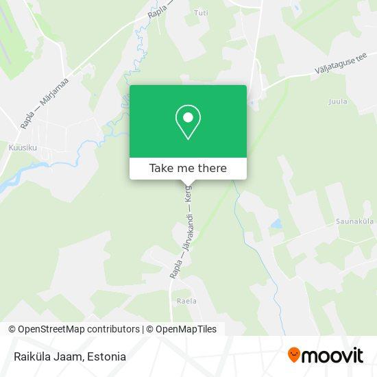Raiküla Jaam map