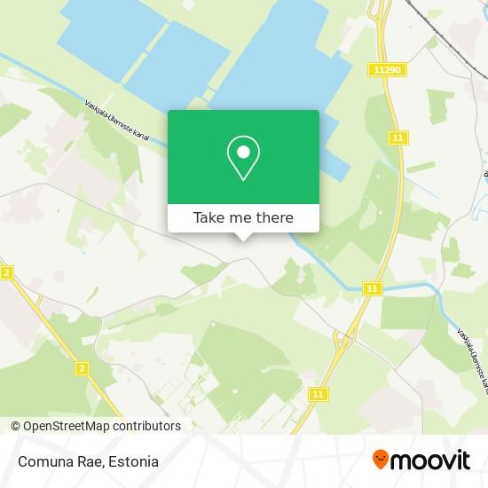 Comuna Rae map