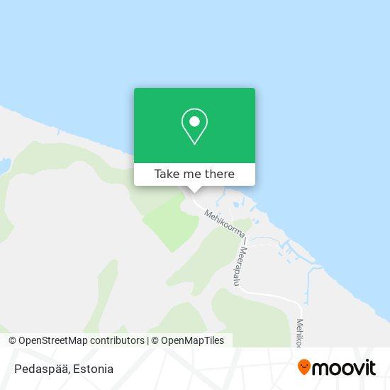 Pedaspää map