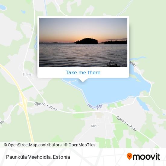 Paunküla Veehoidla map