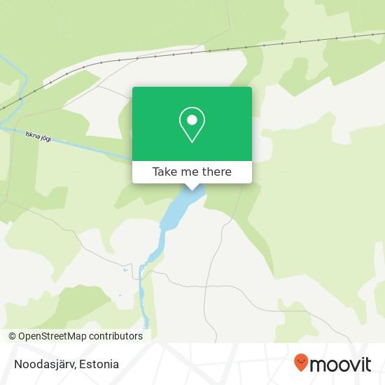 Noodasjärv map