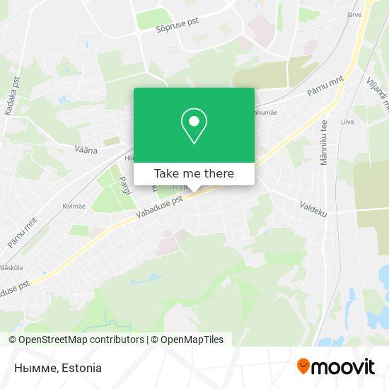 Нымме map