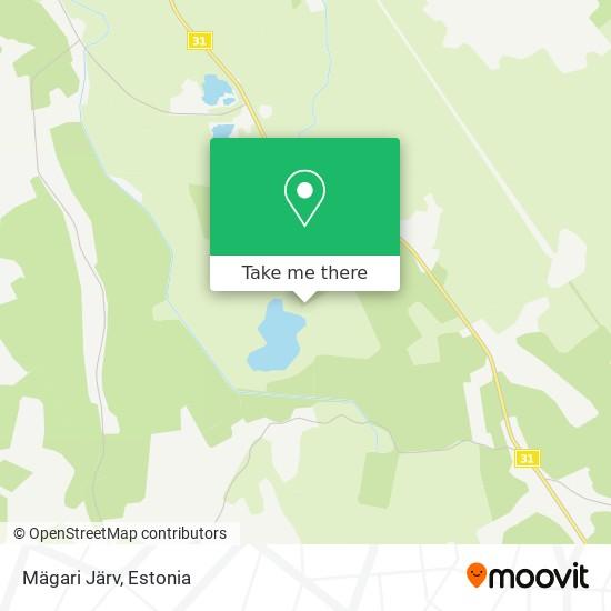 Mägari Järv map