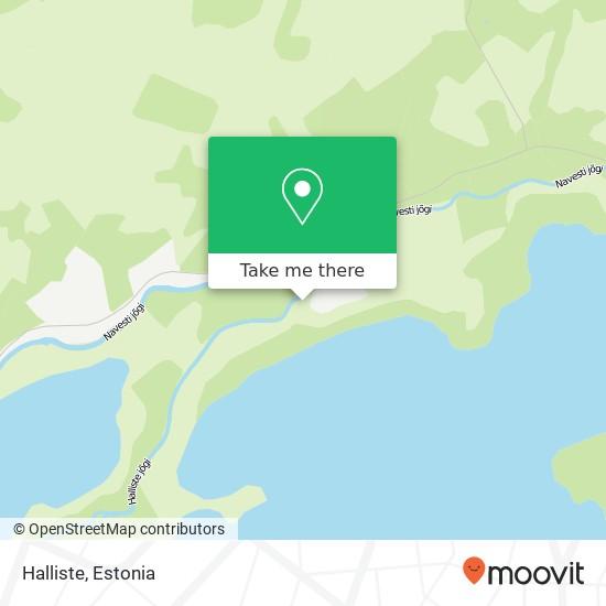 Halliste map