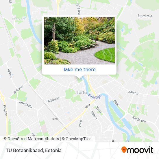 TÜ Botaanikaaed map