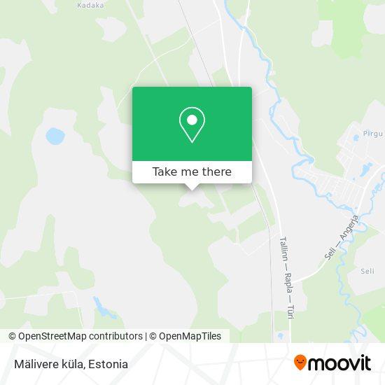 Карта Mälivere küla