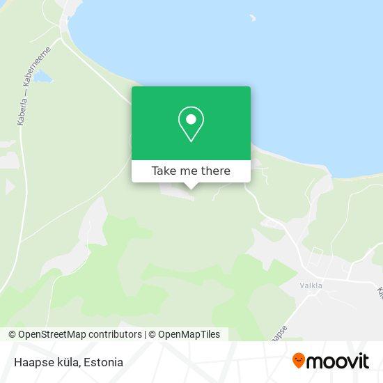 Haapse küla map