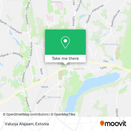 Valuoja Alajaam map