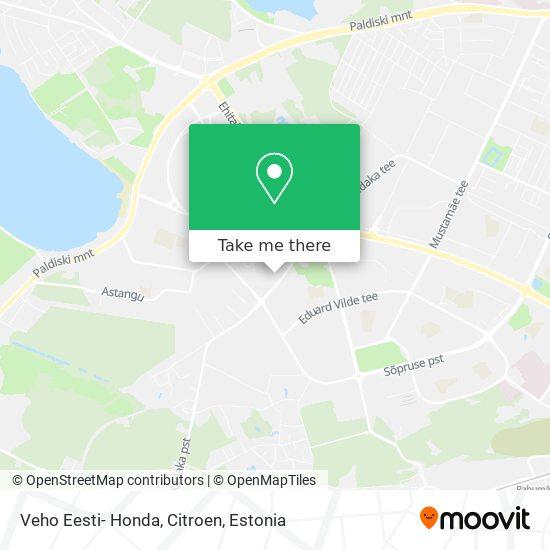 Veho Eesti- Honda, Citroen map
