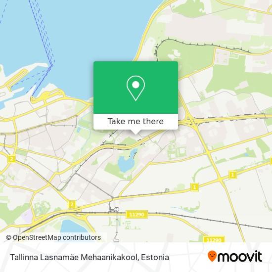Tallinna Lasnamäe Mehaanikakool map