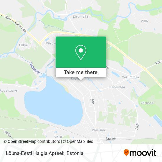 Lõuna-Eesti Haigla Apteek map