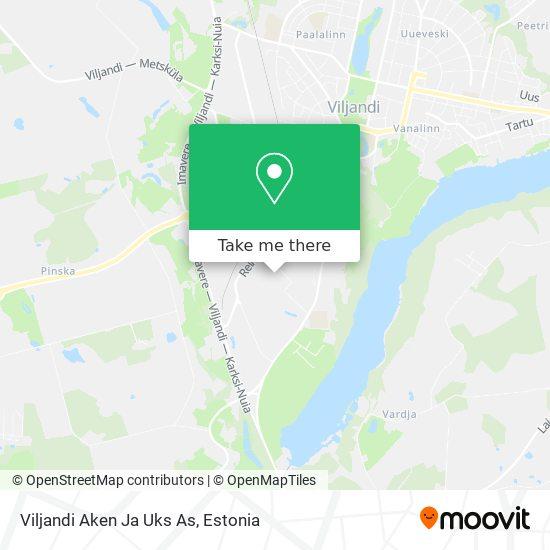 Viljandi Aken Ja Uks As map