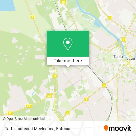 Tartu Lasteaed Meelespea map