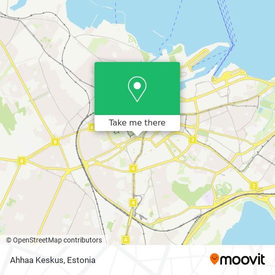 Ahhaa Keskus map