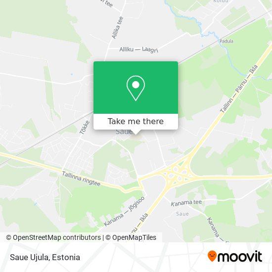 Saue Ujula map