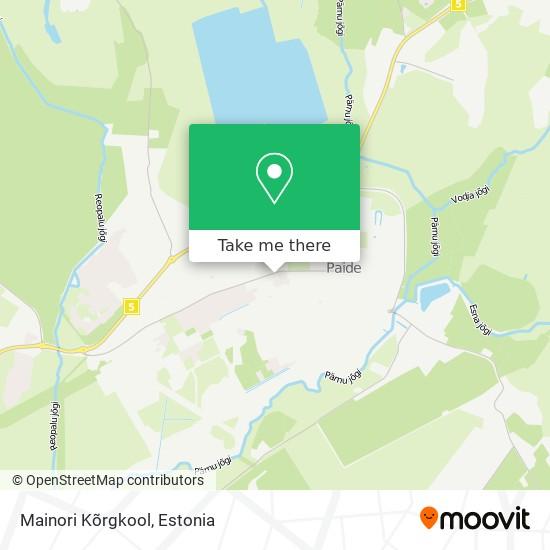 Mainori Kõrgkool map