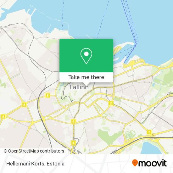Hellemani Korts map