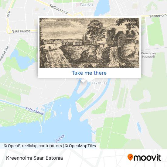 Kreenholmi Saar map