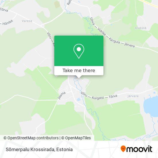 Sõmerpalu Krossirada map