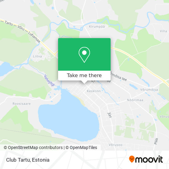 Club Tartu map