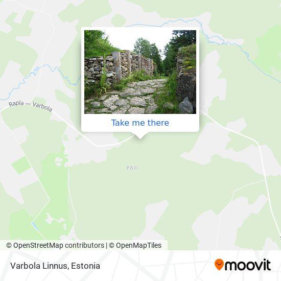 Varbola Linnus map