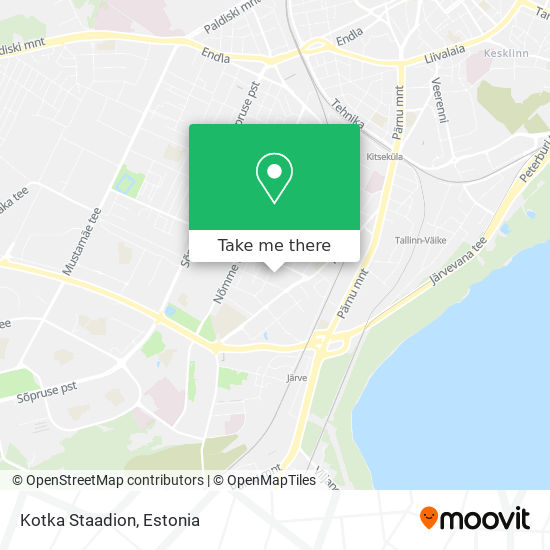 Kotka Staadion map