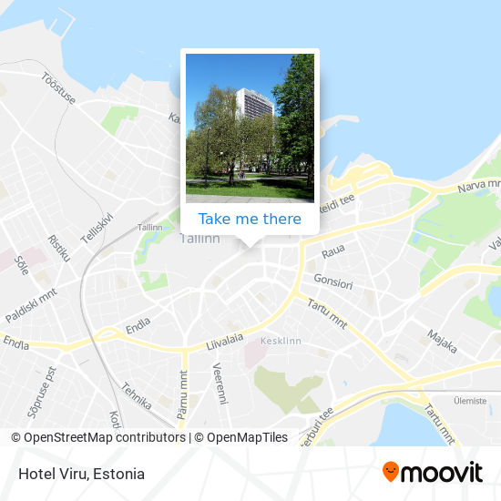 Hotel Viru map