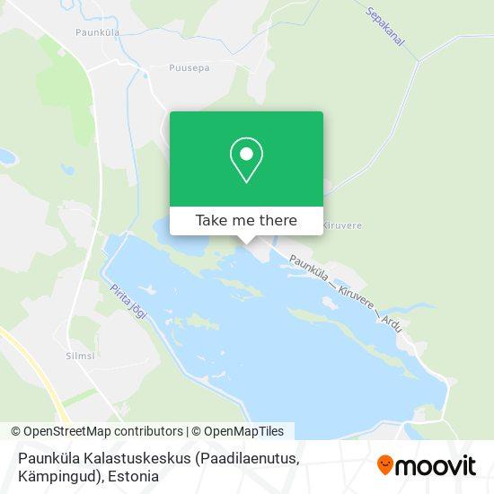 Paunküla Kalastuskeskus (Paadilaenutus, Kämpingud) map