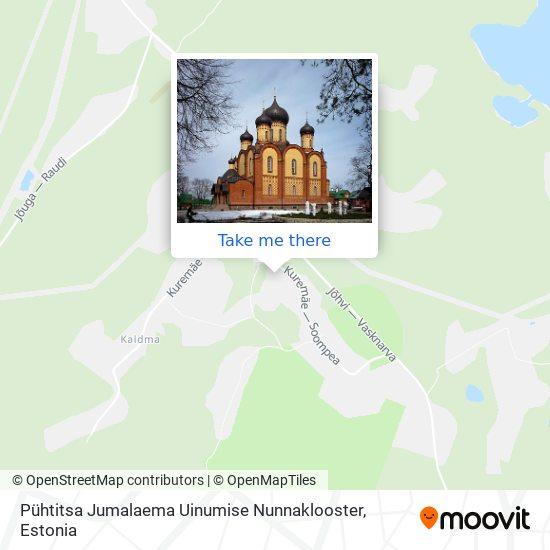 Pühtitsa Jumalaema Uinumise Nunnaklooster map