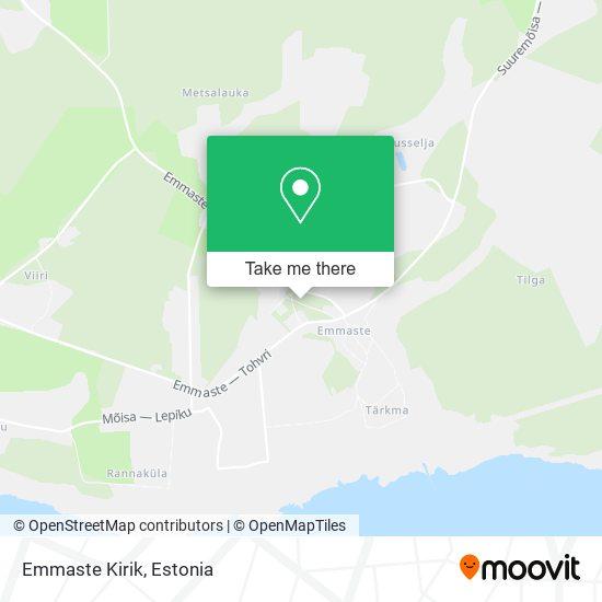 Emmaste Kirik map