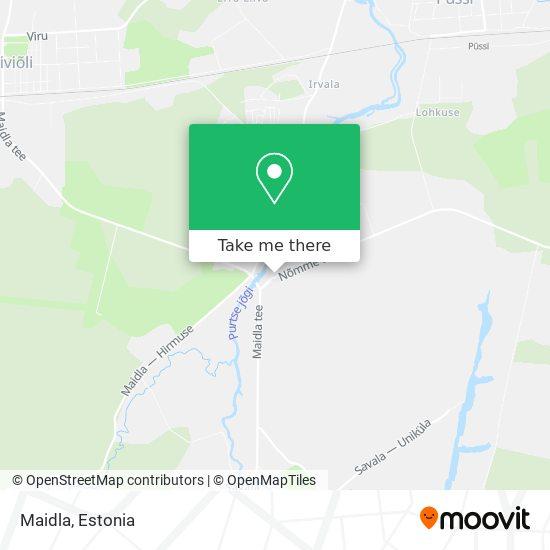Maidla map