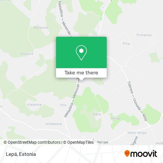Lepä map