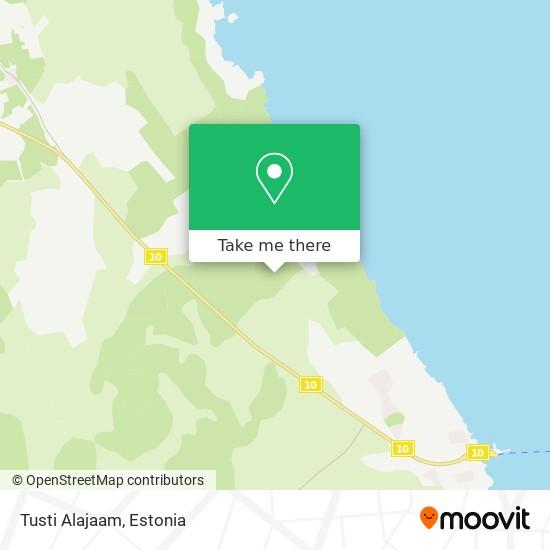 Tusti Alajaam map