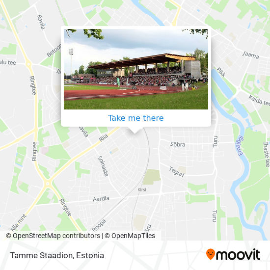 Tamme Staadion map