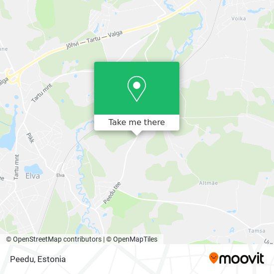 Peedu map