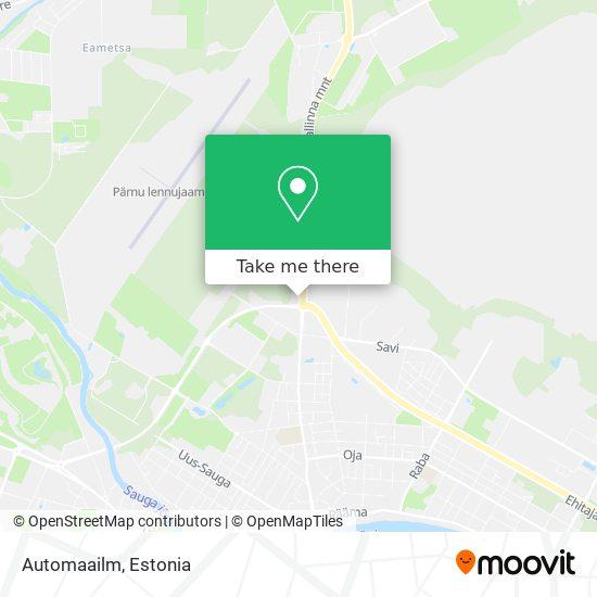 Automaailm map