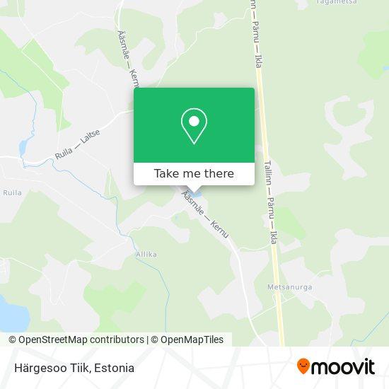 Härgesoo Tiik map