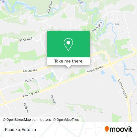 Raadiku map