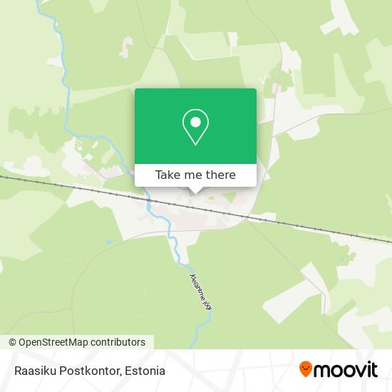Raasiku Postkontor map