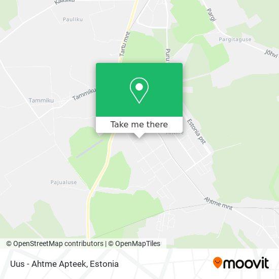 Uus - Ahtme Apteek map