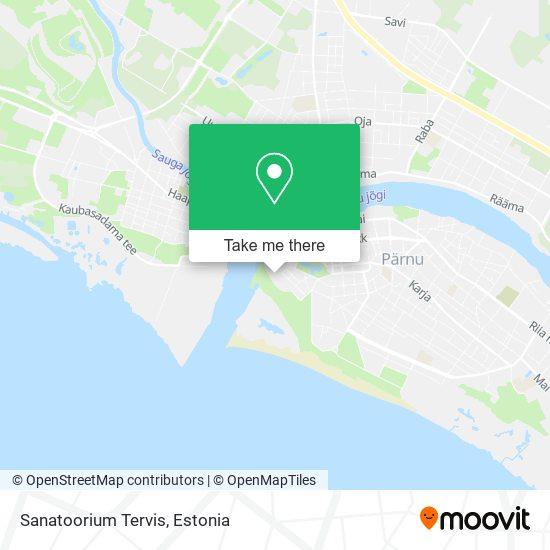Sanatoorium Tervis map
