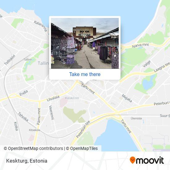 Keskturg map