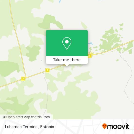 Luhamaa Terminal map