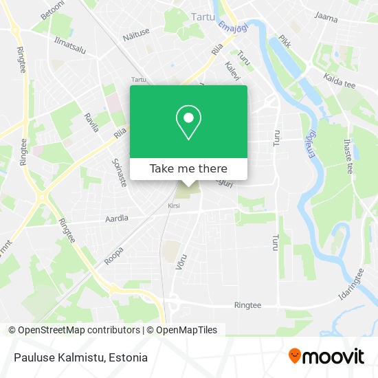Pauluse Kalmistu map